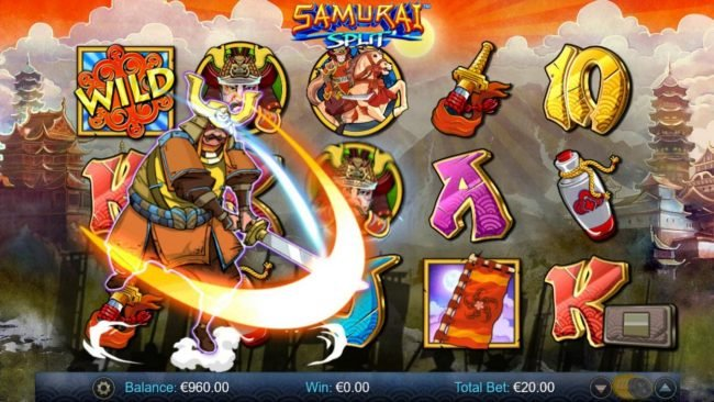 Vera&John featuring the Video Slots Samurai Split with a maximum payout of $40,000