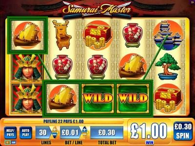 Play slots at Mr Green: Mr Green featuring the Video Slots Samurai Master with a maximum payout of $250,000