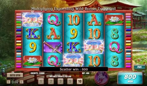 My Bet featuring the Video Slots Samurai Princess with a maximum payout of $50,000