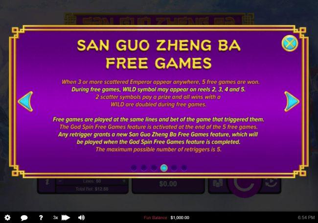 San Guo Zheng Ba :: Free Spins Rules