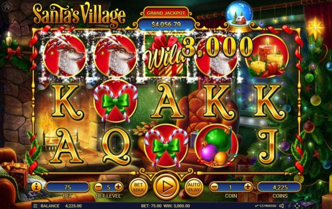 CryptoWild featuring the Video Slots Santa's Village with a maximum payout of $150,000