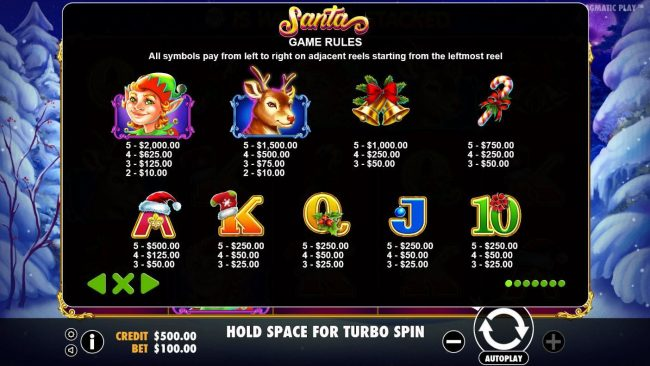 Mayflower featuring the Video Slots Santa with a maximum payout of $40,000