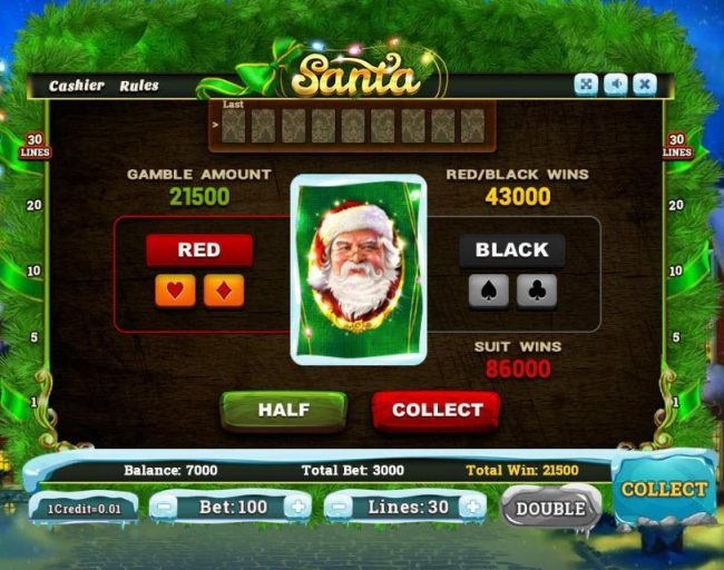 Santa :: Gamble Feature Game Board