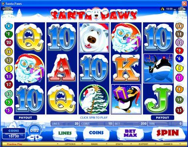 Play slots at Bet Phoenix: Bet Phoenix featuring the Video Slots Santa Paws with a maximum payout of $15,000