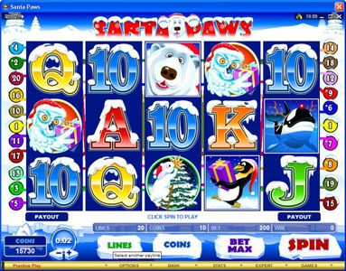 Yoyo featuring the Video Slots Santa Paws with a maximum payout of $15,000