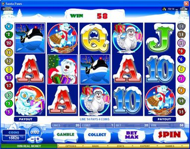 Players Palace featuring the Video Slots Santa Paws with a maximum payout of $15,000