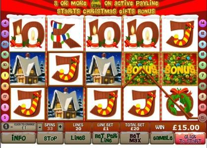 Vegas Red featuring the Video Slots Santa Surprise with a maximum payout of $500,000