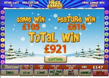 Circus Casino featuring the Video Slots Santa Surprise with a maximum payout of $500,000