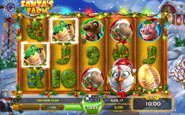 Play slots at CryptoWild: CryptoWild featuring the Video Slots Santa's Farm with a maximum payout of $900