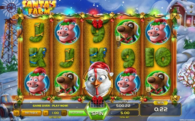 Play slots at Wild Tornado: Wild Tornado featuring the Video Slots Santa's Farm with a maximum payout of $900