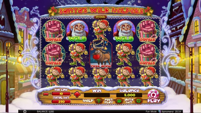 Kingbit Casino featuring the Video Slots Santa's Wild Helpers with a maximum payout of $4,000