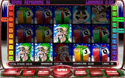 $400 jackpot awarded during the free spins feature