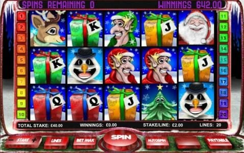 The free spins feature pays out $642