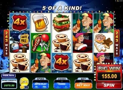 Mr Green featuring the Video Slots Santa's Wild Ride with a maximum payout of $475,000