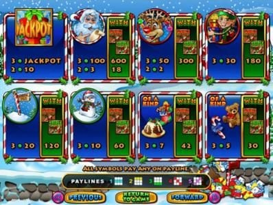 Casino Brango featuring the Video Slots Santastic with a maximum payout of $600