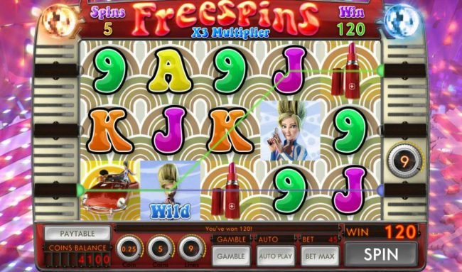 Sassy Spies :: Free Spins Game Board
