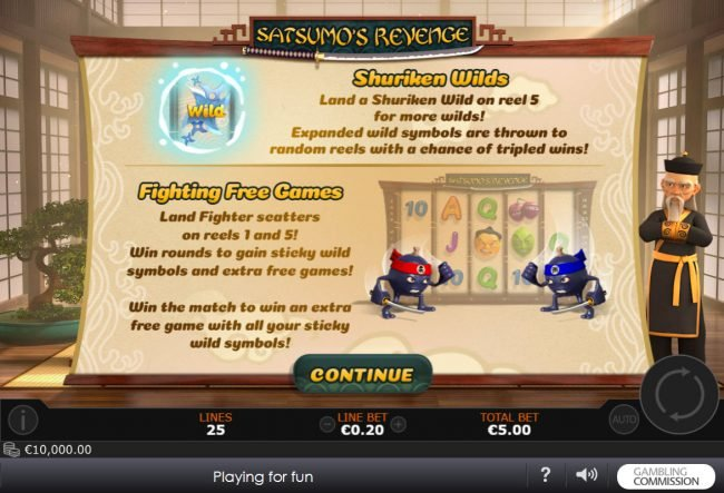 Play slots at Sky Kings: Sky Kings featuring the Video Slots Satsumo's Revenge with a maximum payout of $500,000
