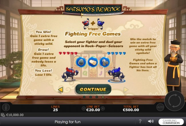 Joyland Casino featuring the Video Slots Satsumo's Revenge with a maximum payout of $500,000