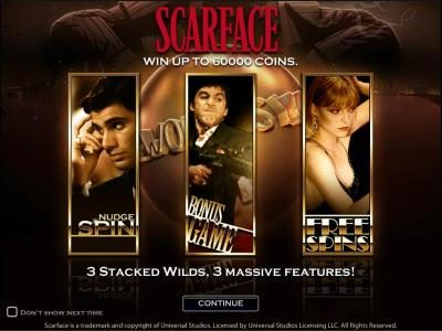 Play slots at Northern Lights: Northern Lights featuring the Video Slots Scarface with a maximum payout of $10,000