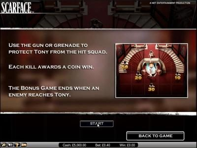 Wild Wild Bet featuring the Video Slots Scarface with a maximum payout of $10,000