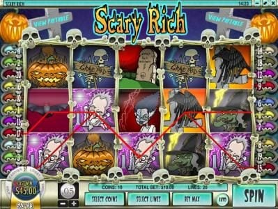 Play slots at Ignition: Ignition featuring the Video Slots Scary Rich with a maximum payout of $5,000