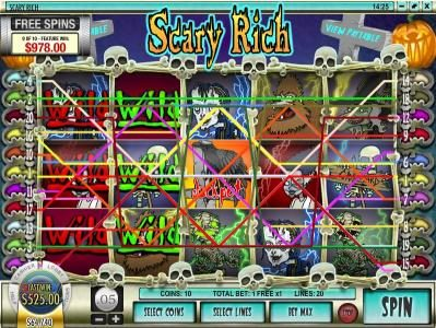 Casino Royal Club featuring the Video Slots Scary Rich with a maximum payout of $5,000