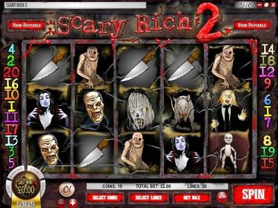 Play slots at Irish Luck: Irish Luck featuring the Video Slots Scary Rich 2 with a maximum payout of $5,000