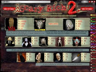 Simon Says featuring the Video Slots Scary Rich 2 with a maximum payout of $5,000