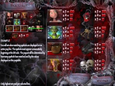 Scary Rich 3 :: slot game symbols paytable