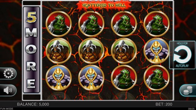 Play slots at NordiCasino: NordiCasino featuring the Video Slots Scattered to Hell with a maximum payout of $100,000