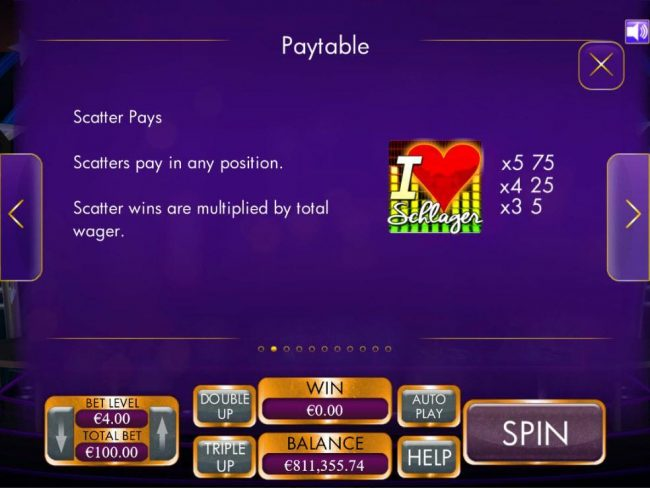 Jetbull featuring the Video Slots Schlagermillions with a maximum payout of $4,000