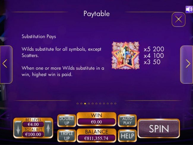 VegasMobile featuring the Video Slots Schlagermillions with a maximum payout of $4,000