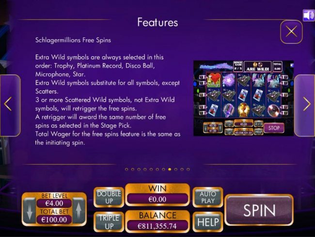 Play Hippo featuring the Video Slots Schlagermillions with a maximum payout of $4,000
