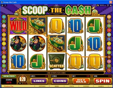 Monaco Aces featuring the Video Slots Scoop the Cash with a maximum payout of $10,000