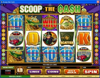 Betway featuring the Video Slots Scoop the Cash with a maximum payout of $10,000