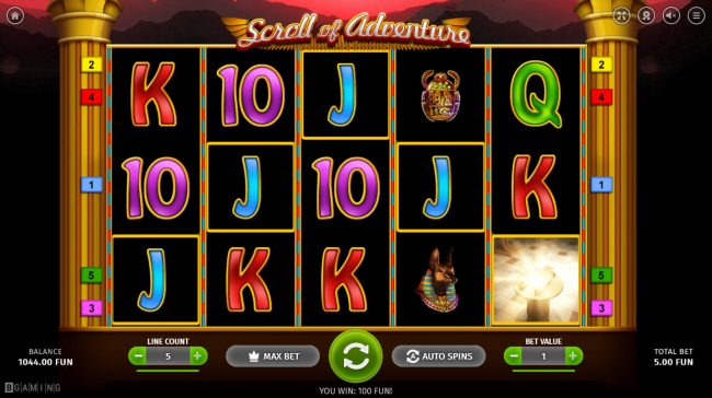 Play slots at Melbet: Melbet featuring the Video Slots Scroll of Adventure with a maximum payout of $5,000