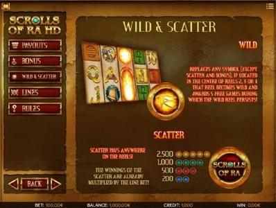 Casdep featuring the Video Slots Scrolls of Ra HD with a maximum payout of $50,000
