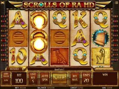 Play slots at Jaak Casino: Jaak Casino featuring the Video Slots Scrolls of Ra HD with a maximum payout of $50,000