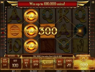 Winstar featuring the Video Slots Scrolls of Ra HD with a maximum payout of $50,000