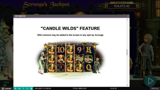 Hello featuring the Video Slots Scrooge's Jackpot with a maximum payout of $500,000
