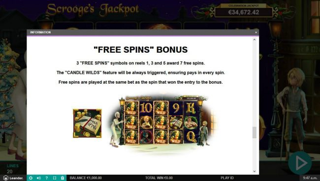 Diamond 7 featuring the Video Slots Scrooge's Jackpot with a maximum payout of $500,000