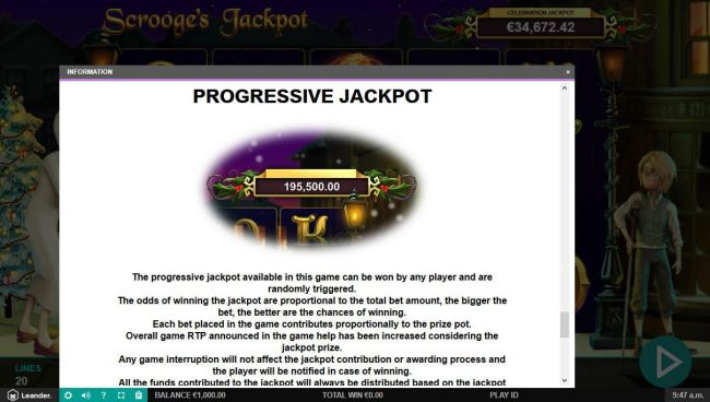 Amsterdam Casino featuring the Video Slots Scrooge's Jackpot with a maximum payout of $500,000