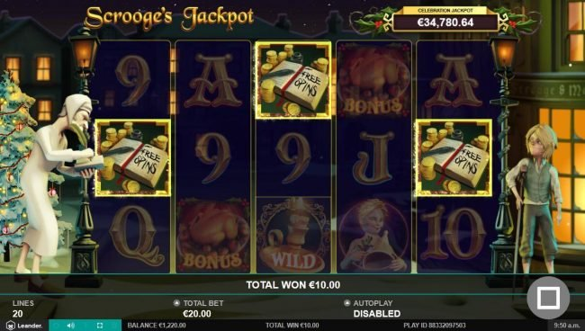 Noxwin featuring the Video Slots Scrooge's Jackpot with a maximum payout of $500,000