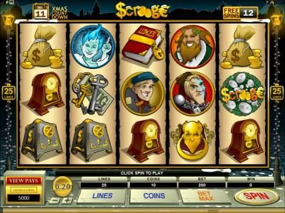 Play slots at Lucky Nugget: Lucky Nugget featuring the Video Slots Scrooge with a maximum payout of $30,000