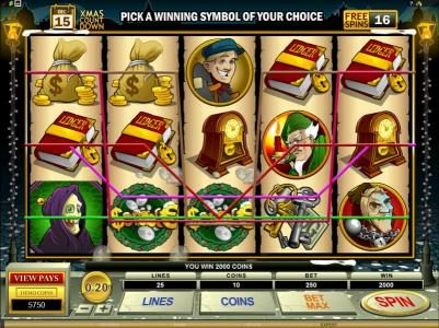 Casino Action featuring the Video Slots Scrooge with a maximum payout of $30,000