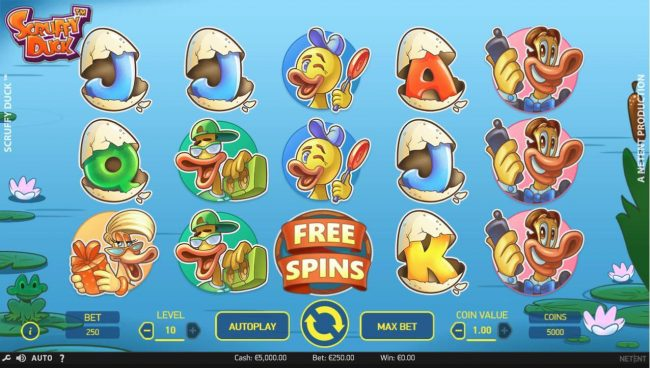 Play slots at Wicked Bet: Wicked Bet featuring the Video Slots Scruffy Duck with a maximum payout of $3,000,000