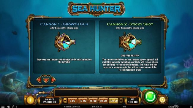 Energy featuring the Video Slots Sea Hunter with a maximum payout of $150,000
