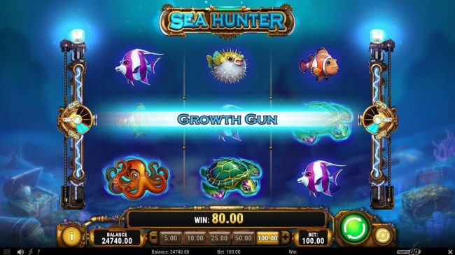 Omnia featuring the Video Slots Sea Hunter with a maximum payout of $150,000