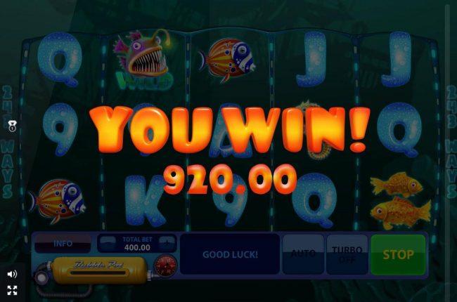 A 920.00 Big Win!