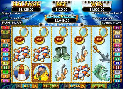 Play slots at Slots Inferno: Slots Inferno featuring the Video Slots Sea Captain with a maximum payout of $250,000